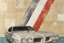 Cars acrylic, mixmedia, oil, photo