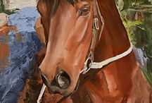 Horses in Art- Australian Tack Riding