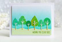 Kaarten met boompjes