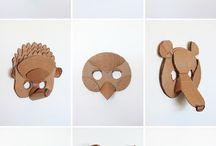 máscara animais