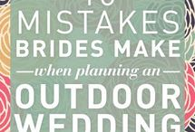 Wedding mistakes outdoors