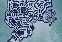 Videogame Map Prints by CityPrints