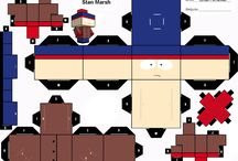 South Park paper craft cube figures / printable D.I.Y cube figure crafts