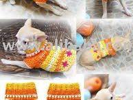 ropa tejida a palillo y crochet perros