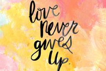 Liefde / Love never gives up