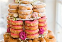 Wedding menu / First course: ? Main course: BURGERS! Dessert: ? Cake: DONUTS INSTEAD OF CAKE!!!