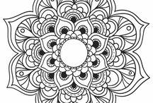 Mandalas e desenhos para pintar
