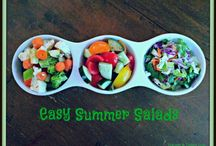 Easy Summer Salads / Easy delicious and healthy summer salads that get you out of the kitchen and enjoying summer fun! Made with summer fresh vegetables, these make ahead salads are perfect for the pool, porch parties, or a cookout. Because they keep in the refrigerator for days, they are a natural go to salad for enjoying summer fun!