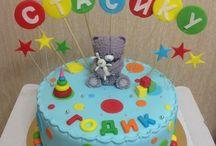 детский тортик на годик