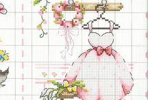 cross stitch bride