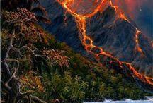 Vulcano's ...Lawa...Eruption ...Plume