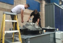 Air Blast Cooler Service / Photos of a 400kW air blast cooler which we serviced and cleaned.