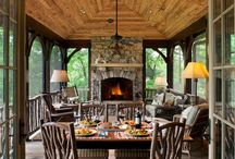 Extension to Lumberjack / An extension to take advantage of the magnificent view with fireplace, and large windows.