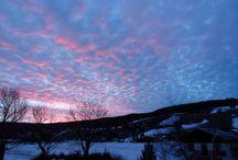 Coucher de soleil sur Corrençon en Vercors (16/01/2014) / Je prenais l'air, j'ai levé la tête, je suis rentré .... ji'ai pris mon appareil, et voici le résultat !