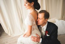 Wedding couples / Cute, tender, romantic brides and bridegrooms.