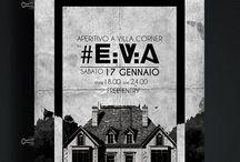 Eva Flyer and branding / Branding, flyers, posters