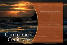 Commitment Certificates / Commitment Certificates. Beautifully designed and suitable for framing. Matching Appreciation Certificates for witnesses also available.
