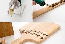Caneta para madeiras decoração