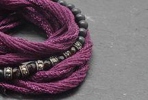 Bracelet de soie / Collection bracelet de soie et pierres semi-précieuses