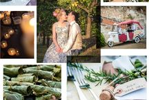 A simple life wedding / 'A simple life' is a genuine, imaginative, relaxed style of celebrating; a great reception and party in lush gardens of olive and citrus trees.