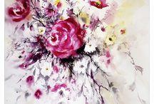 watercolour flowers