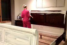 Furniture painting technique