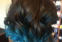 • blue hair