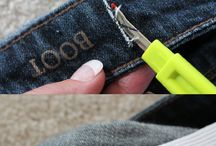 Altering Jeans / Different ways to alter jeans. / by Tejae Floyde