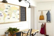 Mudroom Design Ideas / An organized mudroom space tidies up the clutter of day-to-day life. See ideas for how to store and organize items like shoes, hats, keys, coats and scarves—even if you only have a tiny space to work with.