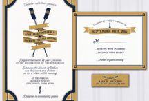 Navy and Gold Nautical Wedding / Nautical wedding theme, yacht club, navy blue and gold, anchor wedding