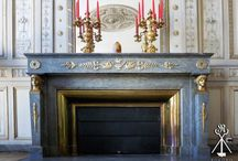 Decoration of the fireplace in Bordeaux
