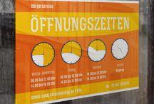 Vorlagen und Ideen für den öffentlichen Auftritt von Shops und Läden / Öffnungszeiten-Schilder, Stempelkarten und weitere.