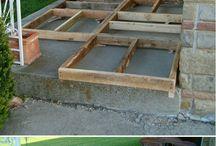 pavimento esterno fatto in legno