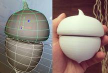 3D Print / Acorn