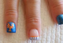 Mets Nail Art Design / Mets Nail Art!