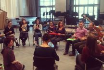 """Formations AFO / Cycle de Formation Association Française des Orchestres : """"Musiciens et actions éducatives"""" au Centquatre, le lundi 7 octobre 2013 avec Sarah Goldfarb. http://www.france-orchestres.com/formations/"""