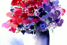 acquarelli fiori
