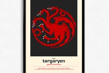 Game Of Thrones Posters / Game Of Thrones posters featuring the houses and characters in the series