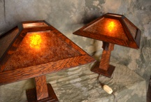 Little Brown Mission Style Lamp