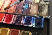 My work (watercolor) / På denne opslagstavle vil mine akvarel billeder blive præsenteret.