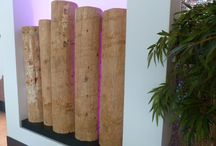 #Spatial wooden wall designs / #Sustainable wood