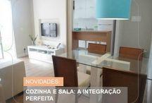 cozinha americana / Aposte na integração dos ambientes para criar uma área social mais ampla.