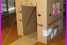 Bunnie houses cardboard / Bunnies!!
