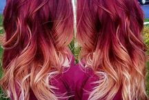 red blonde ombre