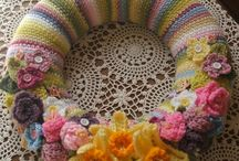 crochet easter wreath