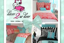 Dorm and Teen Bedding / Custom Dorm Bedding, Custom Teen Bedding, Decor 2 Ur Door, Design Your Own Dorm Bedding, Design Your Own Teen Bedding, Dorm and Teen Bedding, Dorm Bedding, Teen Bedding