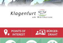 Klagenfurt App / Die Klagenfurt APP wurde von Webwerk, in Zusammenarbeit mit der Stadt Klagenfurt und der Fachhochschule Kärnten, entwickelt und informiert Nutzer mit vielfältigen Informationen über die Landeshauptstadt Klagenfurt. Points of interest, Navigation, Bürgerdraht und Veranstaltungen sind nur ein Teil der vielen nützlichen Funktionen dieser App. Die App ist kostenlos im Google Play und iTunes Store erhältlich.