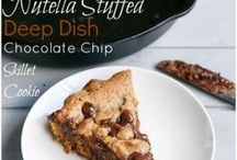 Deep dish Nutella cookie dough