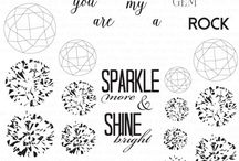 Diamond Stamp Sets / This board is filled with inspiration for our Diamond Collection (Round, Princess and Heart)