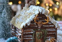 gingerbread house winter